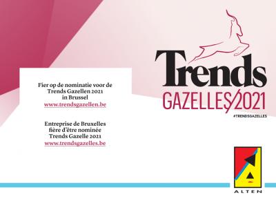 ALTEN Belgium nominated for the Trends Gazelle 2021